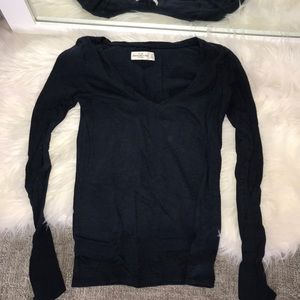ABERCROMBIE & FITCH NAVY LONG SLEEVE